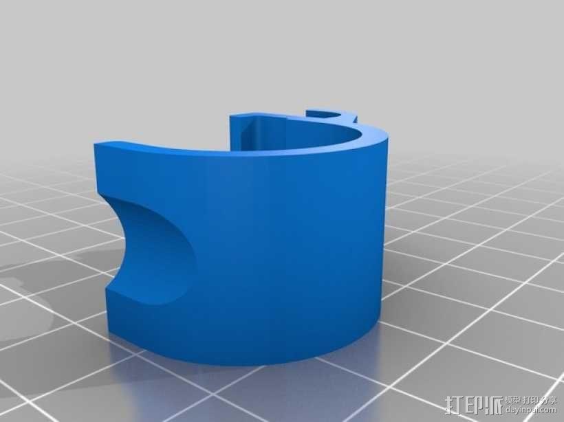 40毫米的风扇通风导管 3D模型  图4