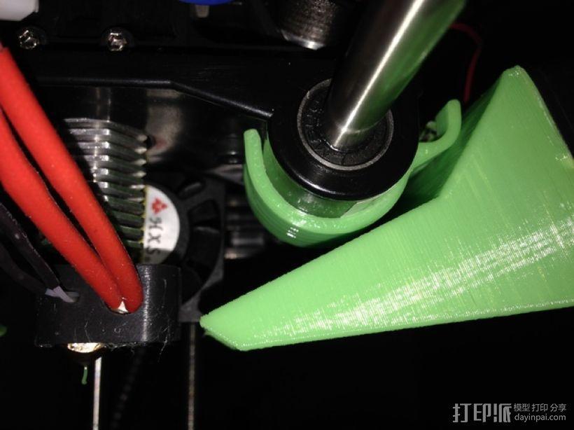 40毫米的风扇通风导管 3D模型  图2