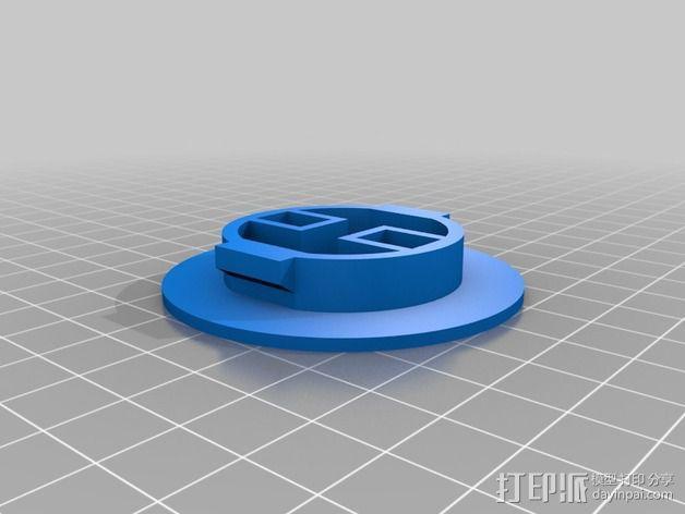 52毫米的线轴支架 3D模型  图2