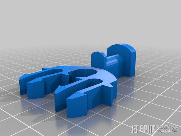 52毫米的线轴支架 3D模型  图3