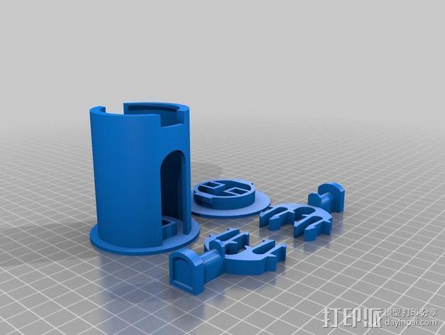 52毫米的线轴支架 3D模型  图4