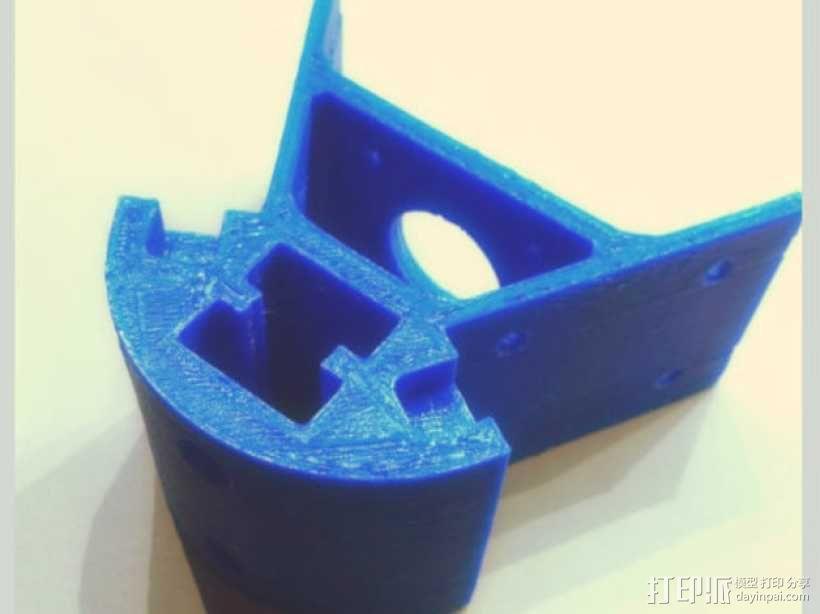 Kossel mini 打印机底部支撑器 3D模型  图2