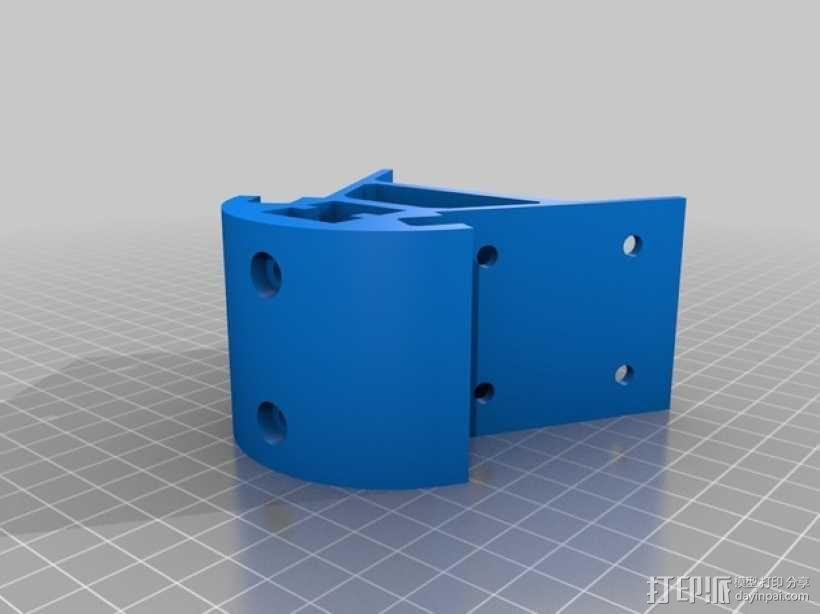 Kossel mini 打印机底部支撑器 3D模型  图1