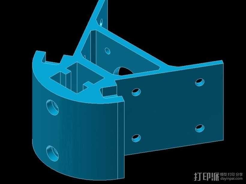 Kossel mini 打印机底部支撑器 3D模型  图3
