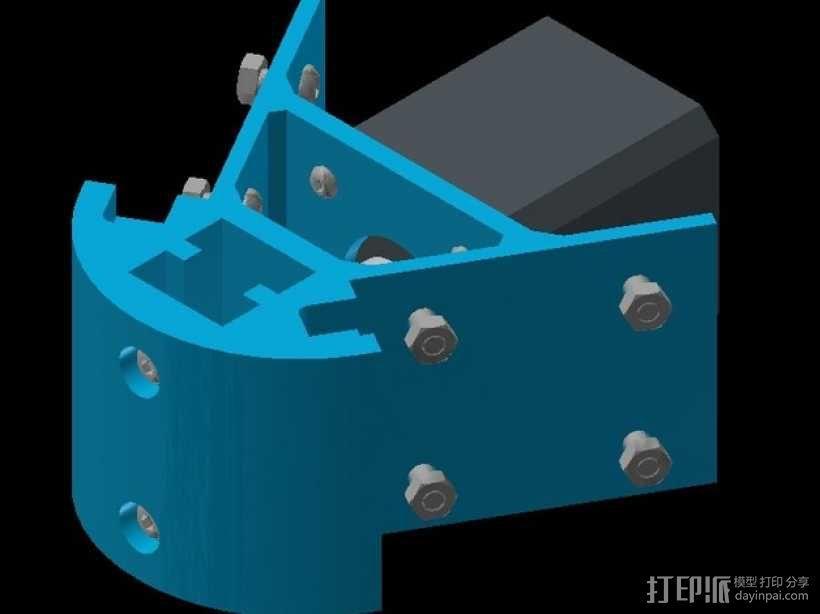 Kossel mini 打印机底部支撑器 3D模型  图6