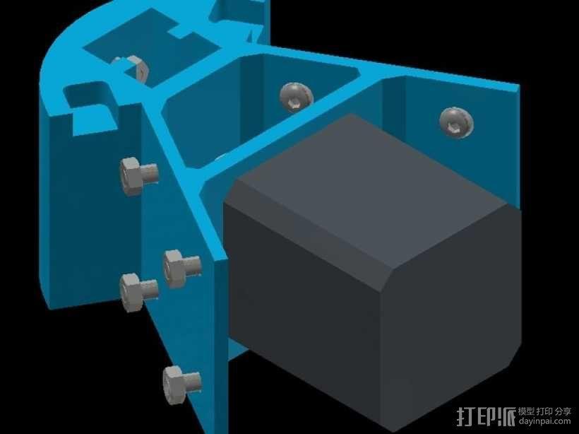 Kossel mini 打印机底部支撑器 3D模型  图5