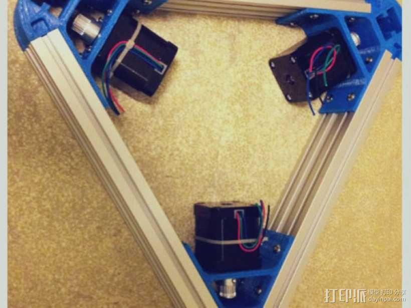 Kossel mini 打印机底部支撑器 3D模型  图9