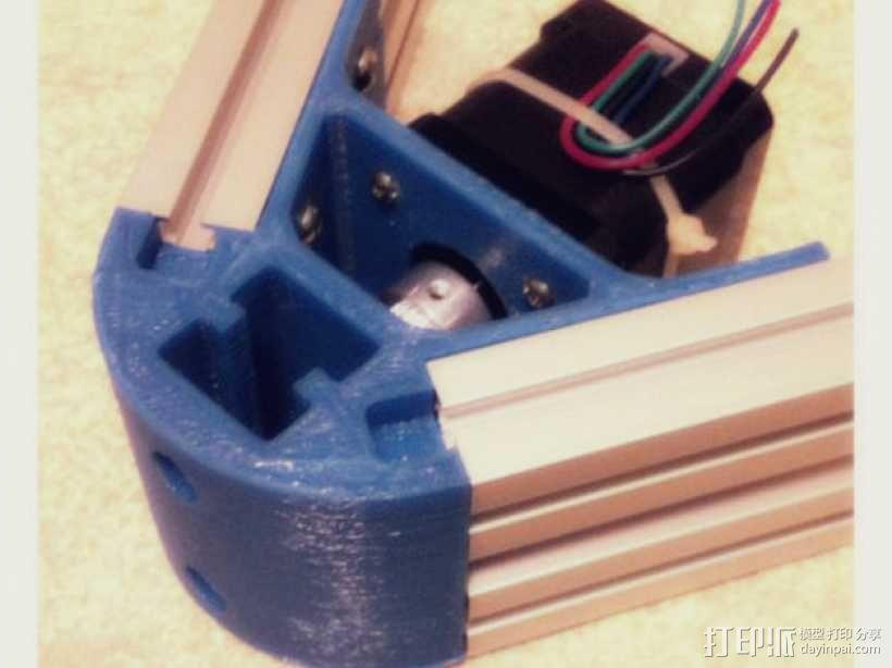 Kossel mini 打印机底部支撑器 3D模型  图8