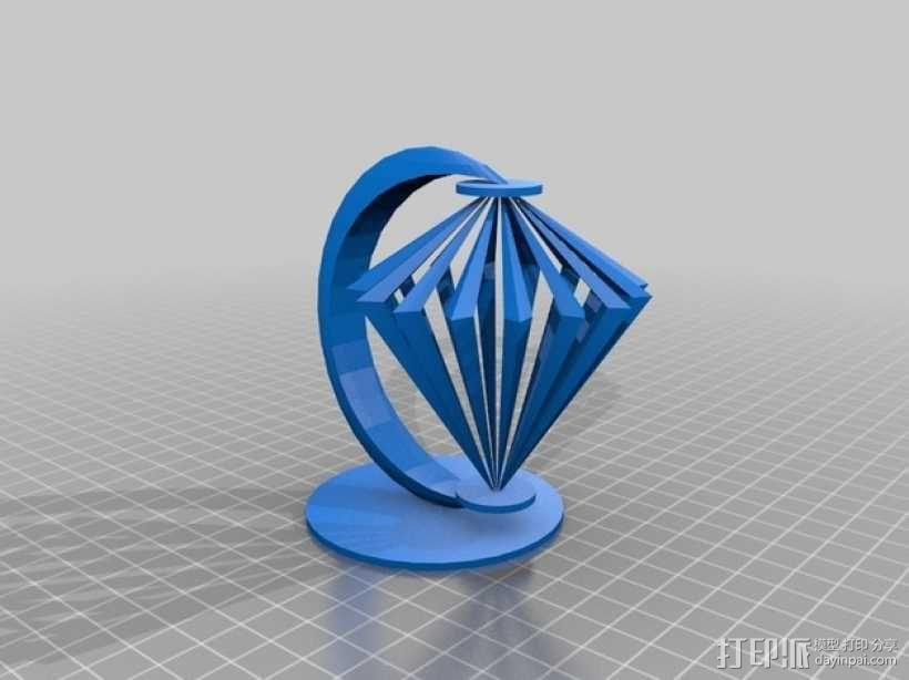 小台灯 3D模型  图1