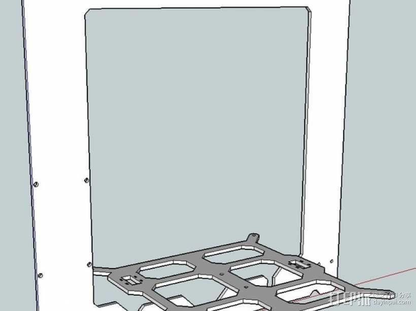 Prusa i3打印机框架 3D模型  图1