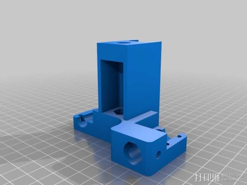 Mendel90打印机的X-ends  3D模型  图2