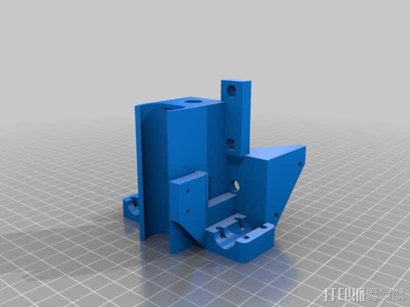 Mendel90打印机的X-ends  3D模型  图3
