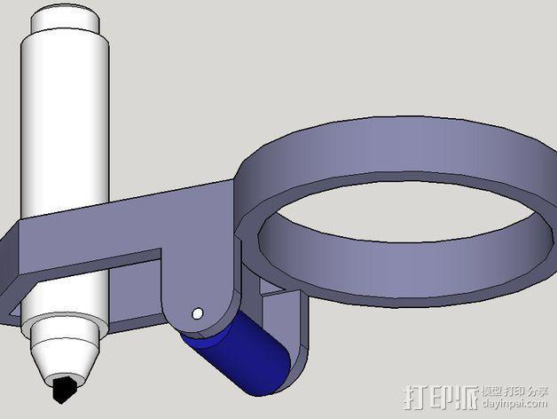 打印笔支架 3D模型  图1