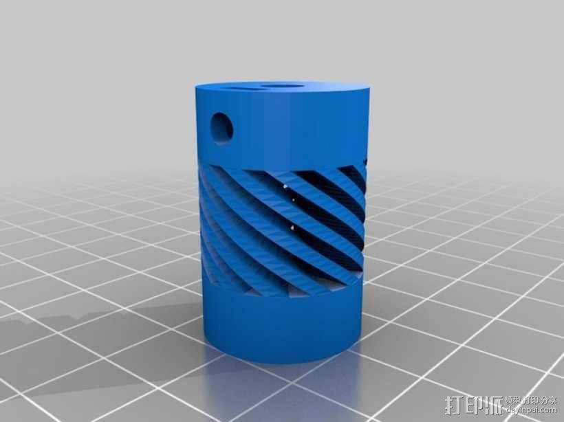 Prusa i3打印机的Z耦合器 3D模型  图1