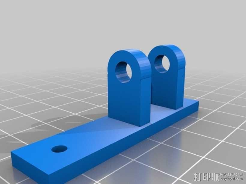 vellerman k8200 打印机的风扇支架 3D模型  图3