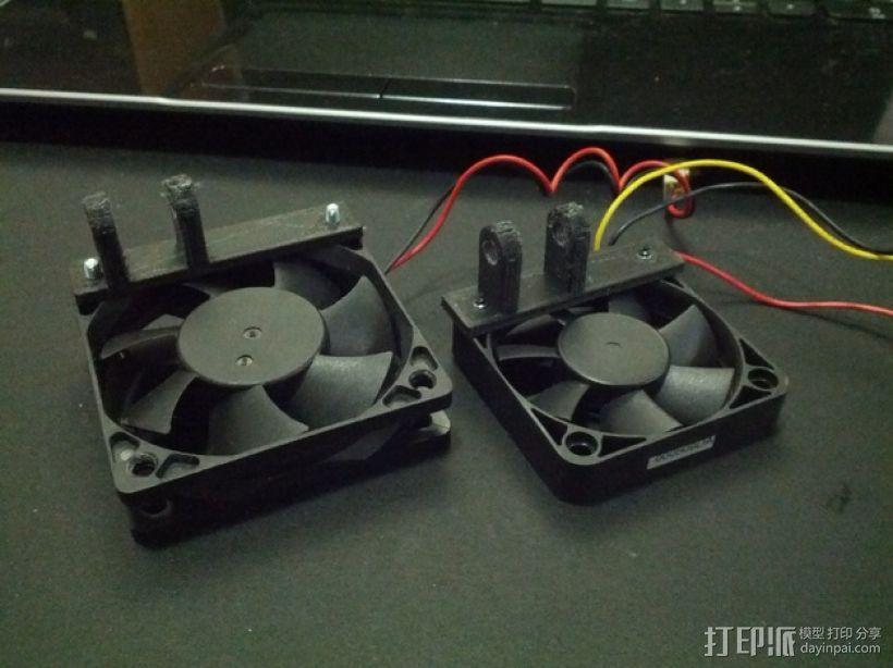 vellerman k8200 打印机的风扇支架 3D模型  图5