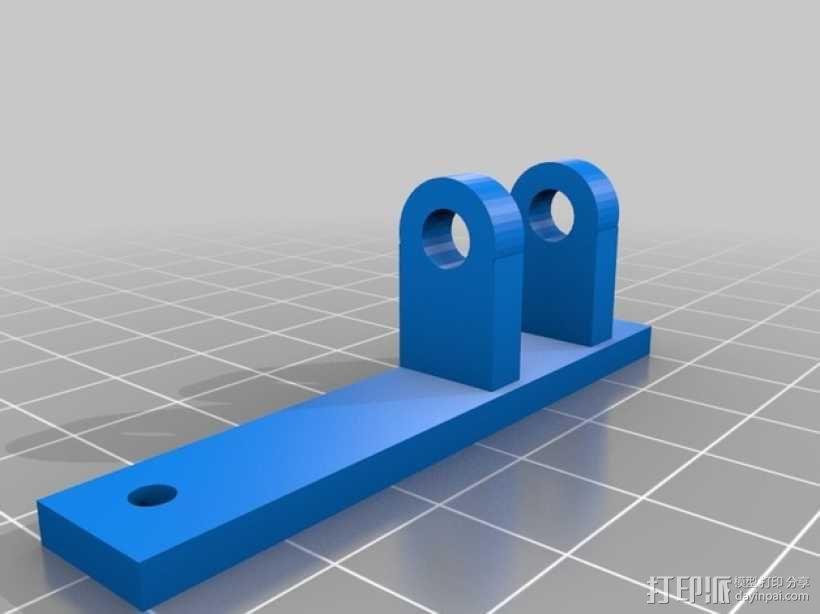 vellerman k8200 打印机的风扇支架 3D模型  图4