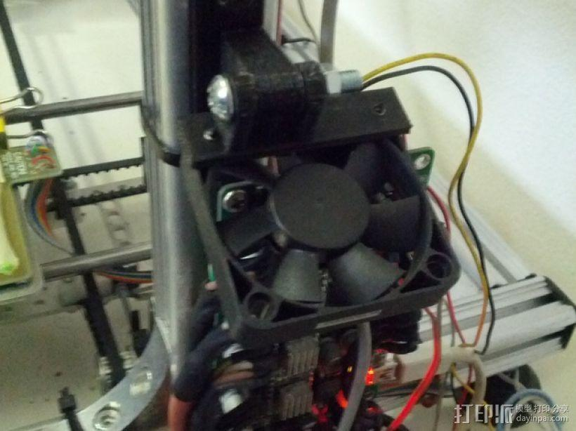vellerman k8200 打印机的风扇支架 3D模型  图6