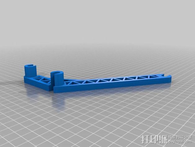线轴支撑臂 3D模型  图1