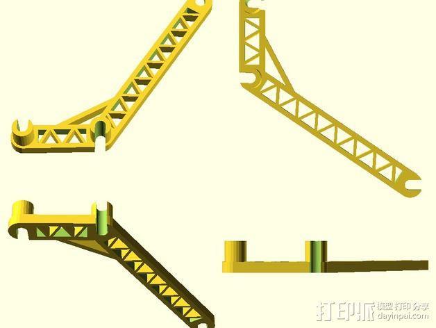 线轴支撑臂 3D模型  图3