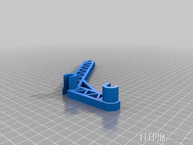线轴支撑臂 3D模型  图2