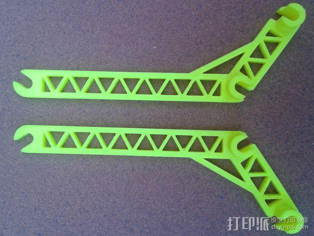 线轴支撑臂 3D模型  图4