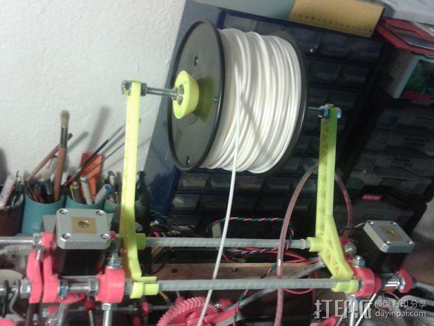 线轴支撑臂 3D模型  图6