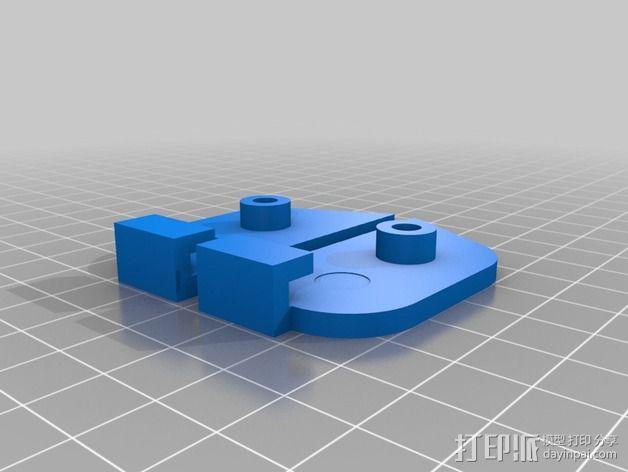 Prusa P3 打印机的螺杆固定板 3D模型  图3