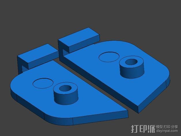 Prusa P3 打印机的螺杆固定板 3D模型  图4