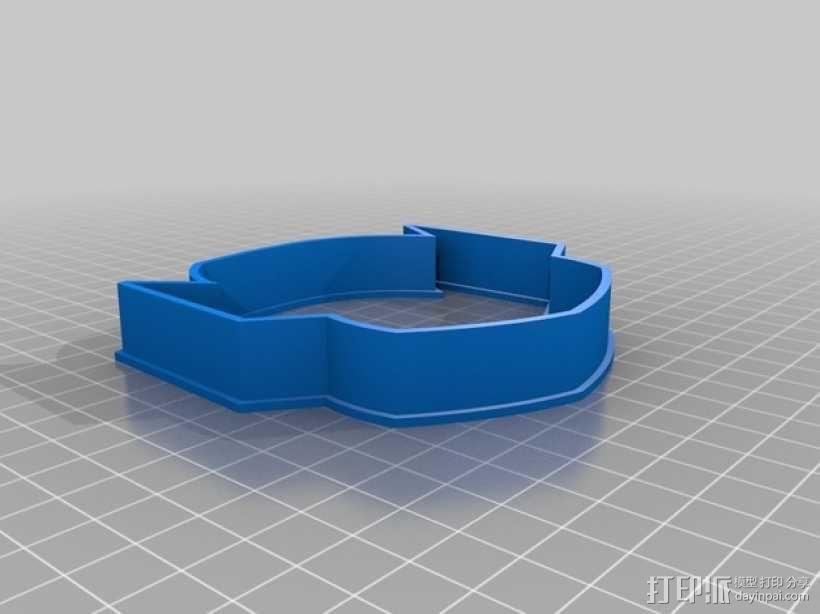 Thanos形状的饼干切割器 3D模型  图1