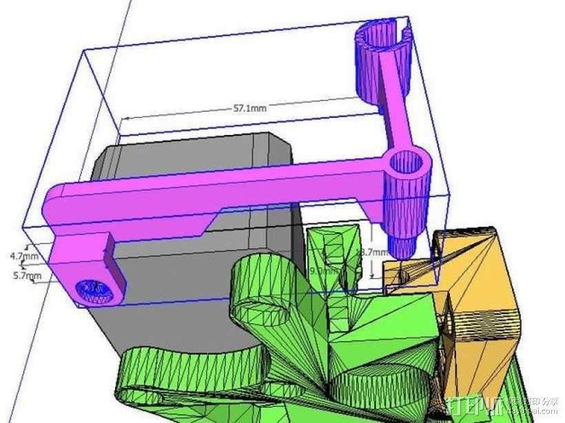 线材导轨 导线器 线材滤尘器 3D模型  图3