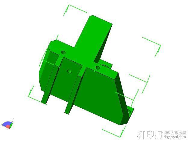 挤出机的支架 3D模型  图3