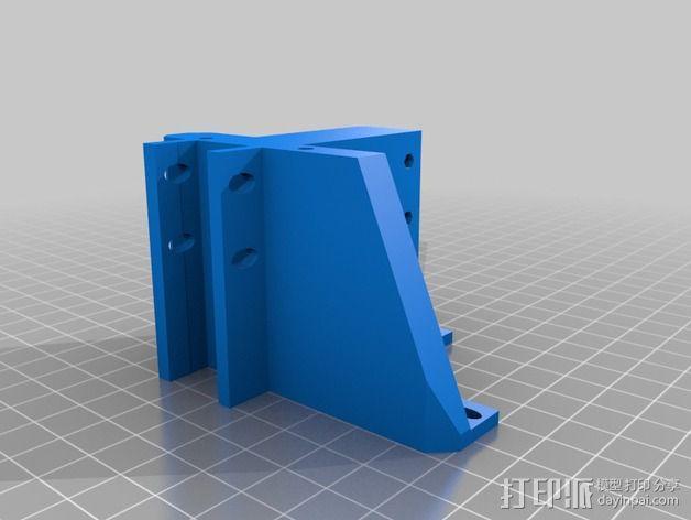 挤出机的支架 3D模型  图2