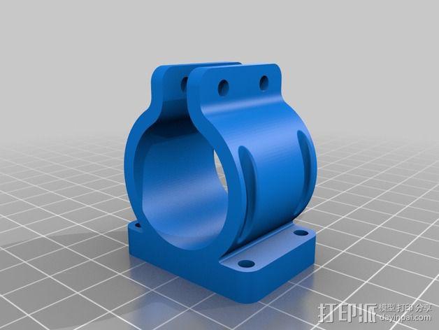 激光器固定夹 3D模型  图1