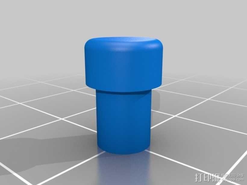 LED 灯管 3D模型  图1