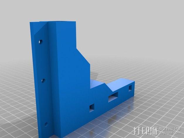 Makerbot Replicator打印机的边框支架 3D模型  图2