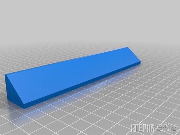 Makerbot Replicator打印机的边框支架 3D模型  图4
