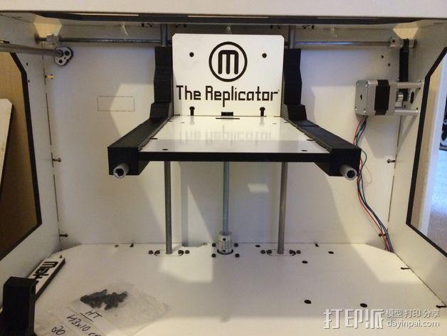 Makerbot Replicator打印机的边框支架 3D模型  图9