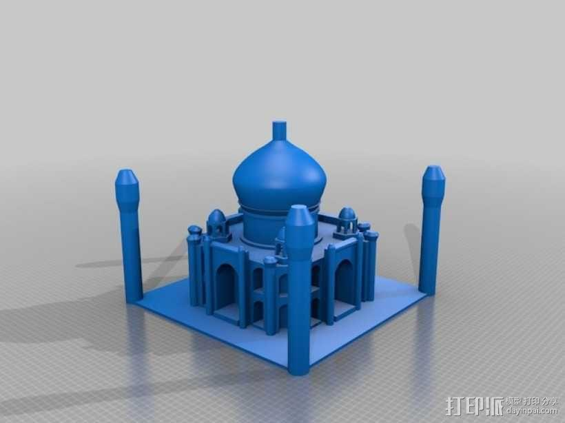 泰姬陵 3D模型  图1