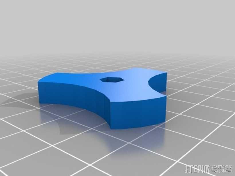 六角螺母旋钮 3D模型  图2