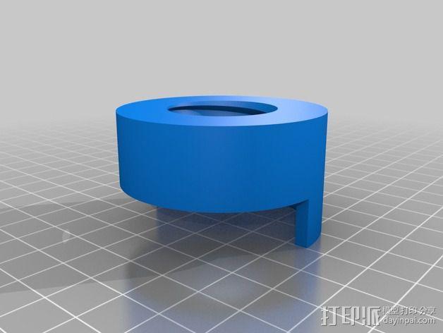 线轴适配器 3D模型  图3