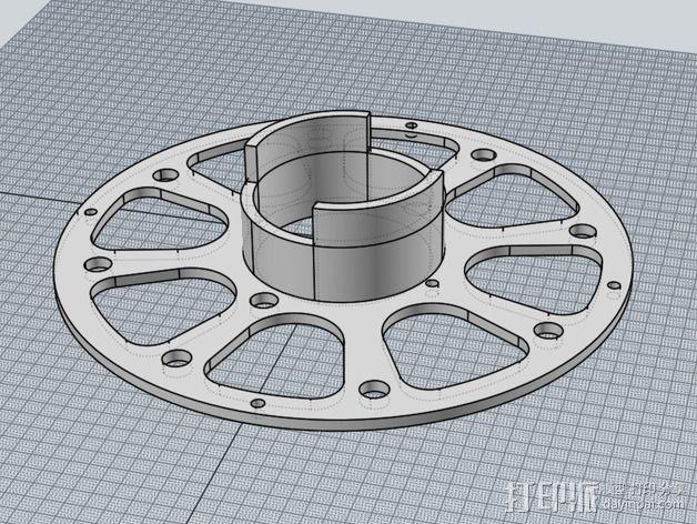 线轴适配器 3D模型  图6