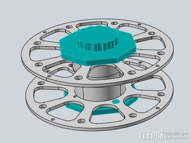 线轴适配器 3D模型  图9