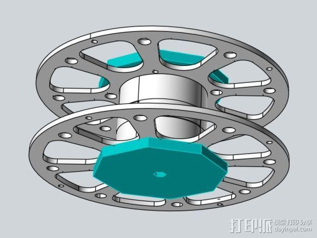 线轴适配器 3D模型  图8