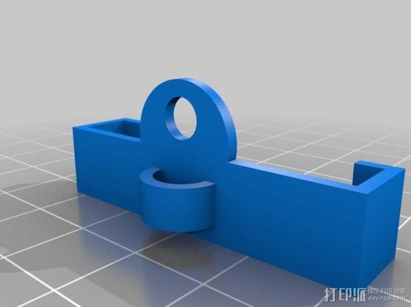 OneUp/TwoUp打印机的线材导轨支架 3D模型  图2