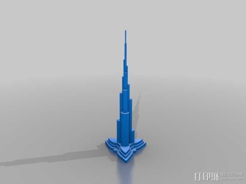 迪拜塔 建筑模型 3D模型  图1