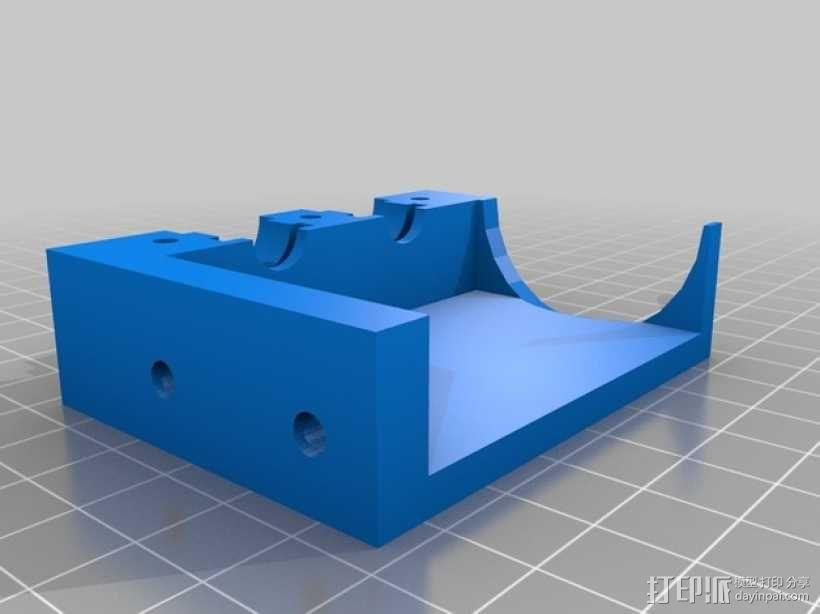 prusa i3打印机的喷头支架 3D模型  图2
