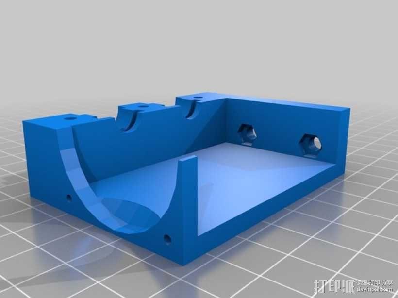 prusa i3打印机的喷头支架 3D模型  图3