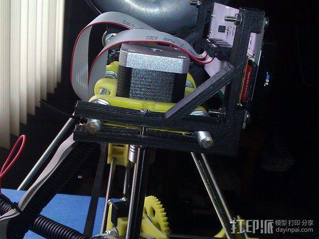 LCD显示屏支架 3D模型  图1