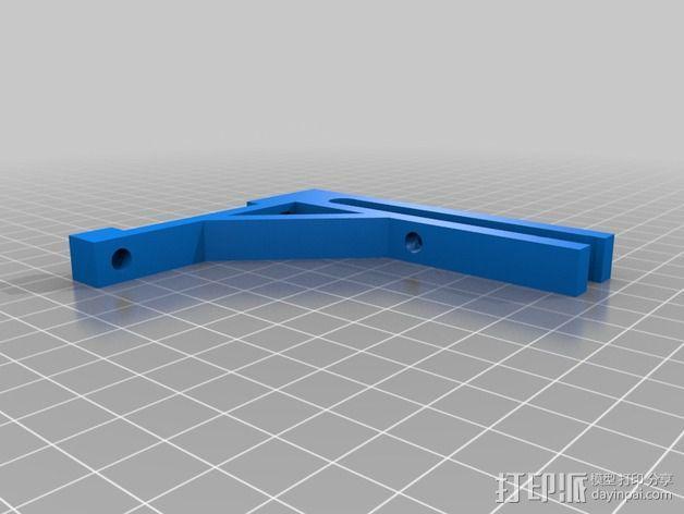 LCD显示屏支架 3D模型  图2